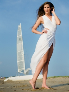 Jessica Magary's beach portrait session at first landing state park by mark knopp